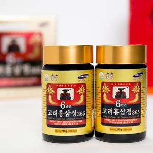 Cao hồng sâm 365 Hàn Quốc hộp 2 lọ x 240 gram