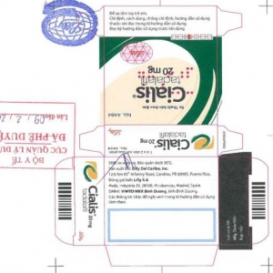Thuốc Cialis 20mg, 10 mg (Tadalafil) – Điều Trị Rối Loạn Cương Dương