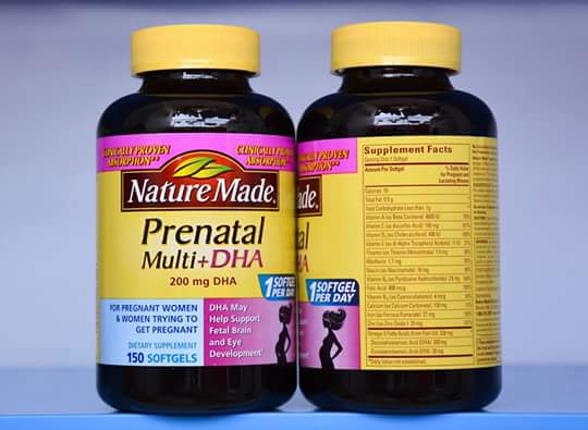 Nature Made Prenatal Vitamins Supplement Facts