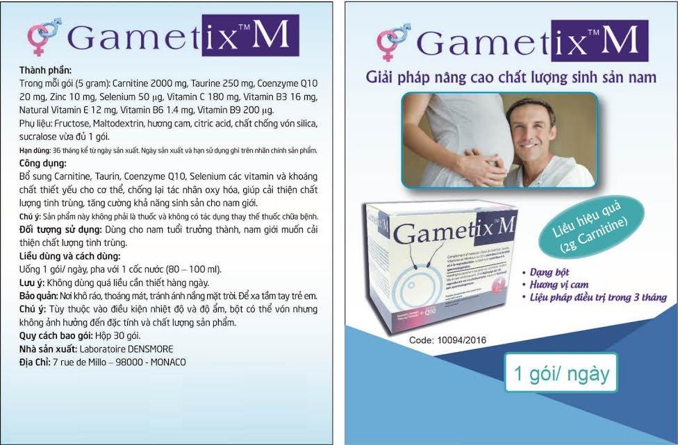 hướng dẫn sử dụng thuốc gametix m hiệu quả