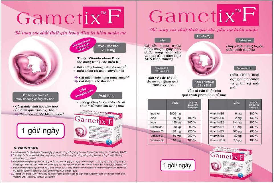 vai trò các thành phần có trong thuốc gametix f