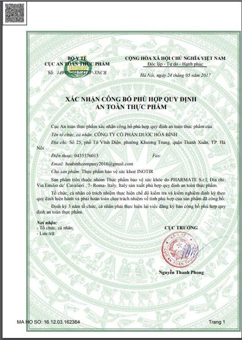 Xác nhận công bố sản phẩm chính hãng tại Việt Nam