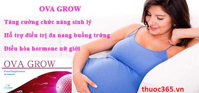 Thuốc ova grow lựa chọn đáng tin cậy trước khi mang bầu và hỗ trợ điều trị vô sinh nữ