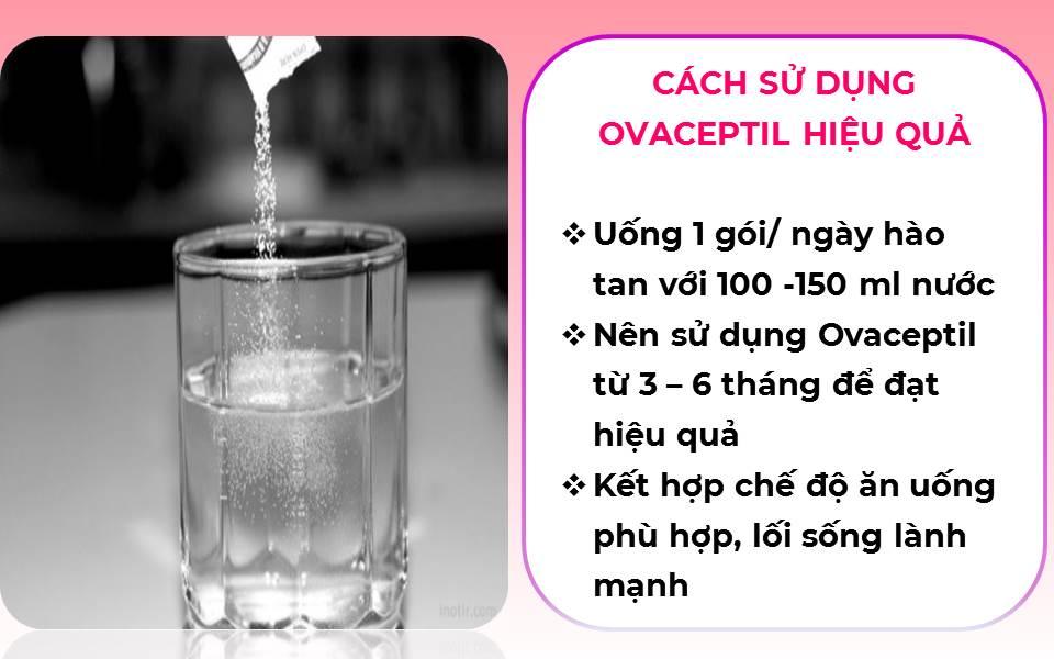 cách uống OVACEPTIL